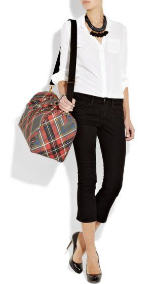 Vivienne Westwood Derby Tartan Weekend Bag Sold S
