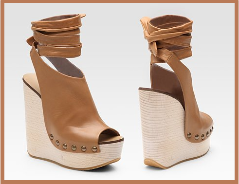 Chloé Leather Platform Wedge: Wrap Me